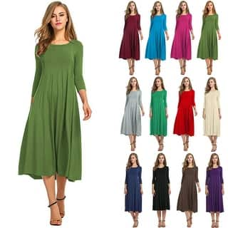 6d94f7f507f9c Buy Beige Casual Dresses Online at Overstock
