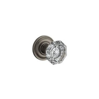 Baldwin PV.CRY.TRR Crystal Privacy Door Knob Set with Traditional Round Trim from the Reserve Collection