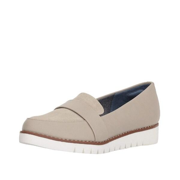 2d5a1a2e9cb Shop Dr Scholls Imagine Wedge Loafers Greige - 6 B(M) - Free ...