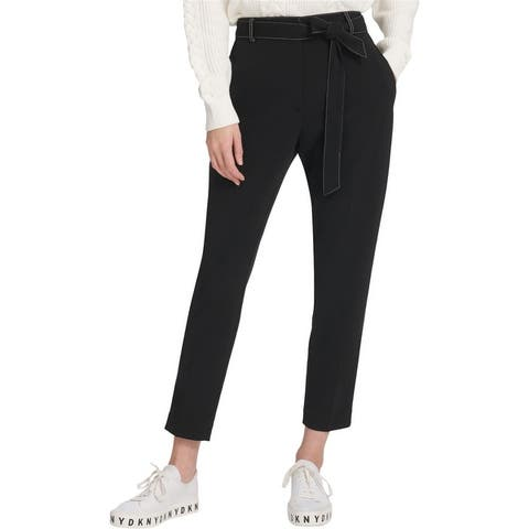 Dkny Womens Tie-Waist Casual Trouser Pants