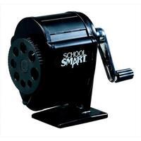 School Smart 084835 Multi-Hole Metal Pencil Sharpener, Black