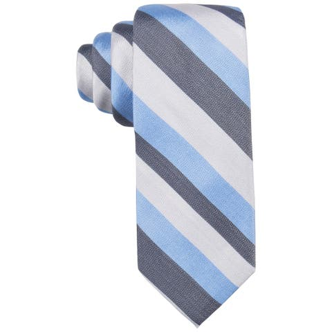 Ryan Seacrest Mens Newland Self-tied Necktie, blue, One Size - One Size