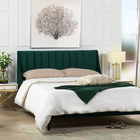 Strick & Bolton Aphrodite Upholstered Tufted Platform Bed