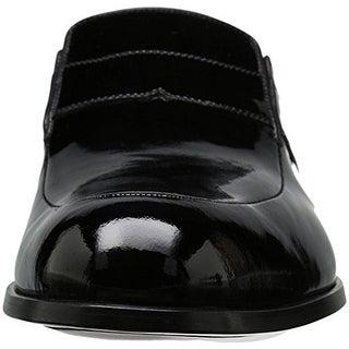 A. Testoni Mens Slip On Tuxedo Loafers