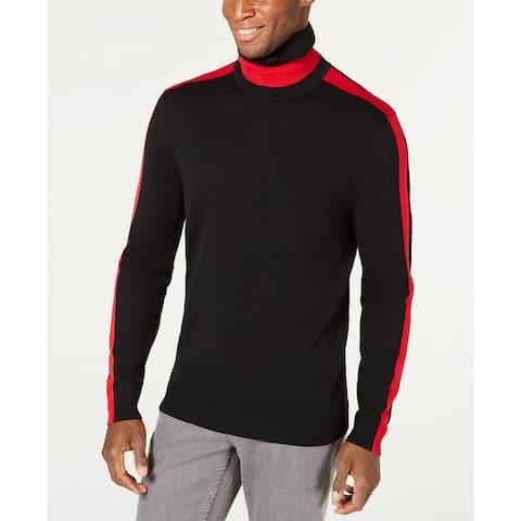 Alfani Men's Colorblocked Turtleneck Black Size Extra Large - X-Large
