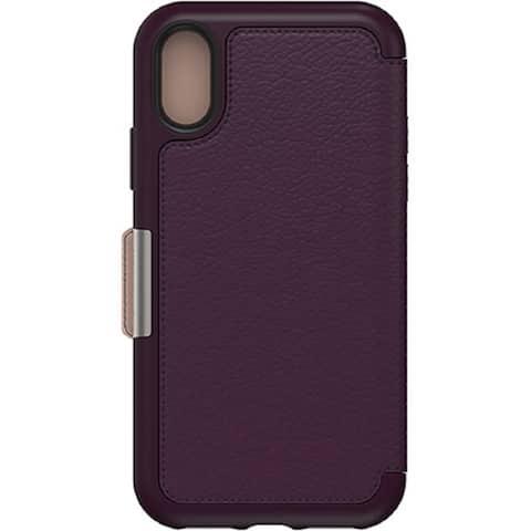 OtterBox STRADA SERIES Folio Case for iPhone X/Xs - Royal Blush - Purple