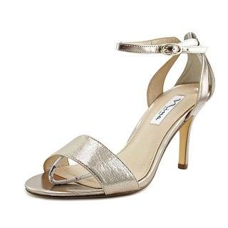 Nina Venetia Women Open Toe Synthetic Gold Sandals