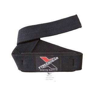 Weightlifting Wrist Straps Gym Body Building Wraps Cotton Neoprene Padded B-2 - Black