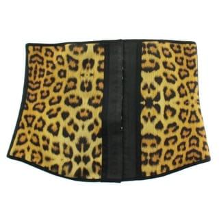 Ann Chery Womens Leopard Print Latex Waist Cincher - 42