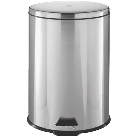 Homebasix LYP07F3-3L Step Trash Can, Round, 1.85 Gal