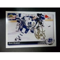 Signed Gilmour Doug Toronto Maple Leafs 1992 Upper deck Hockey Card autographed