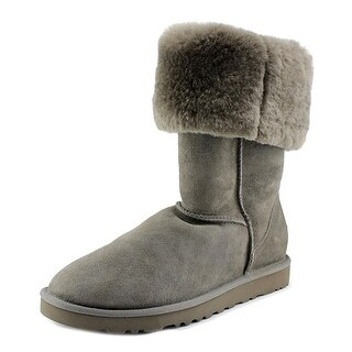 Ugg Australia Classic Tall Youth Round Toe Suede Gray Winter Boot