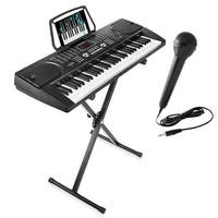 61-Key Digital Music Piano Keyboard - Portable Electronic Musical Instrument - Black