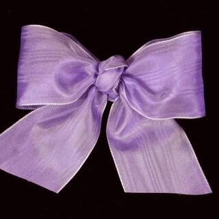 "Lavender Deco Moire Satin Craft Ribbon 3"" x 27 Yards"
