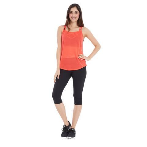 Marika Women's Activewear Mesh Tank Top Workout Shirt