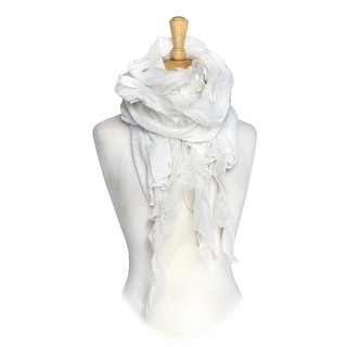Vintage Lace with Leaves Long Designer Scarf
