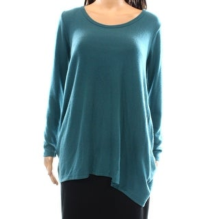 Go Couture NEW Blue Turquoise Women's Size Large L Scoop Neck Sweater