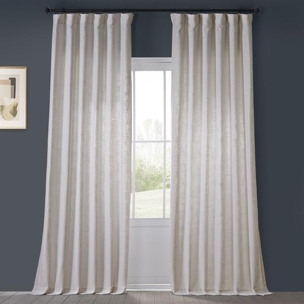 Heavy Faux Linen Single Curtain Panel. Opens flyout.