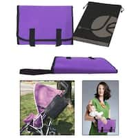 Fold up Compact - Built-in Pocket for Diapers and Extra Pocket  (Purple) - Purple