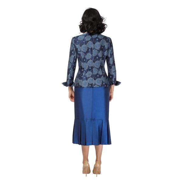 Le Suit Womens Monte Carlo Shantung 2PC Skirt Suit Gold 4