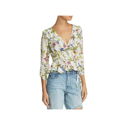 Milly Womens Blouse Floral Silk - Multi