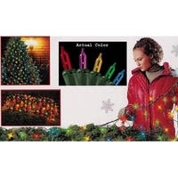 4' x 6' Multi-Color Mini Net Style Christmas Lights - Green Wire - multi