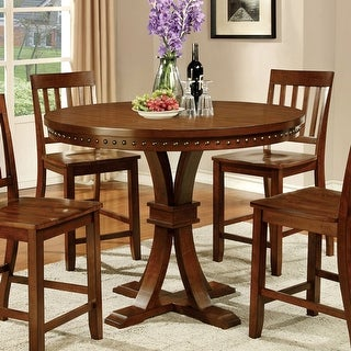 Link to Furniture of America Yizi Industrial Oak 48-inch Counter Height Table Similar Items in Dining Room & Bar Furniture