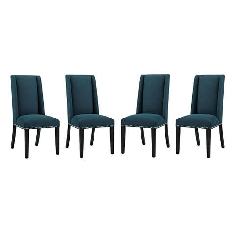 Baron Fabric Slipper Dining Chair (Set of 4)