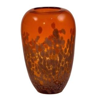 Dale Tiffany AV15533 Orange Gold 12 Inch Tall Hand Blown Glass Vase