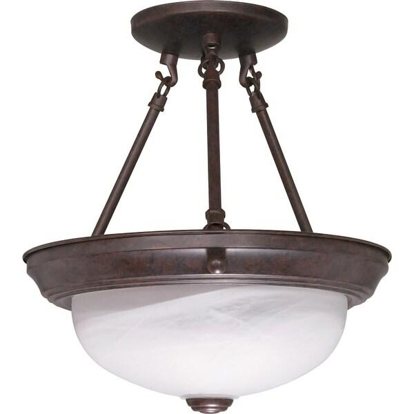 "Nuvo Lighting 60/208 2 Light 11-3/8"" Wide Semi-Flush Bowl Ceiling Fixture"