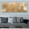 Statements2000 Copper Modern Abstract 3D Metal Wall Art Panels by Jon Allen - Copper Hypnotic Sands - Thumbnail 7