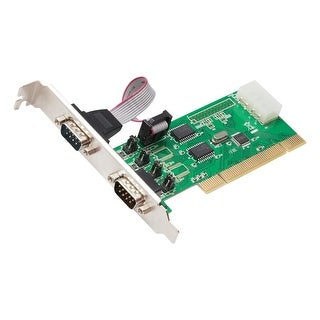 Syba Sd-Pci15039 2 Serial (Rs-232, Db9) Ports Pci Controller Card, Full & Low Profile Brackets, Wch351 Chipset