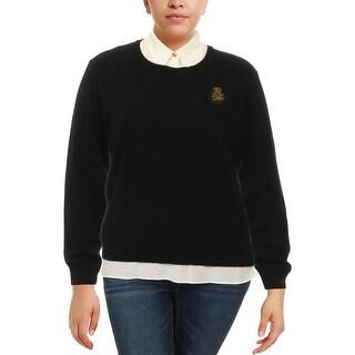 Lauren Ralph Lauren Womens Lali Sweater Cashmere Mixed Media