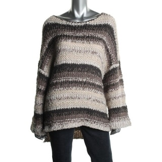 Free People Womens Crochet Elbow Sleeves Pullover Sweater