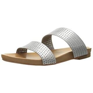 Johnston & Murphy Womens Jodi Suede Perforated Flat Sandals - 8.5 medium (b,m)