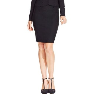 BCX Womens Juniors Pencil Skirt Ponte Button Detail