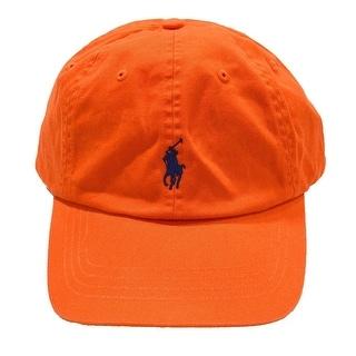 Polo Ralph Lauren NEW Neon Orange Men's One-Size Chino Baseball Cap