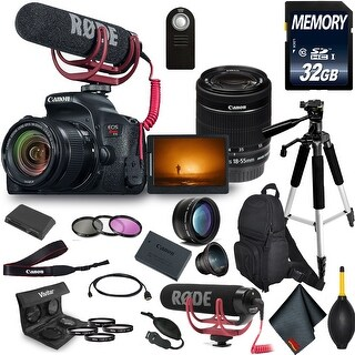 Canon Rebel T7i Camera & 18-55mm Lens Video Maker Kit