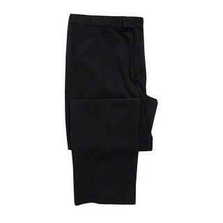Kenneth Cole Men's Pinstriped Pants (32Wx30L, Black Combo) - black combo - 32x30