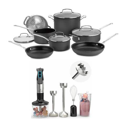Cuisinart Chef's Classic Nonstick 11-Piece Cookware Set w/ Blender