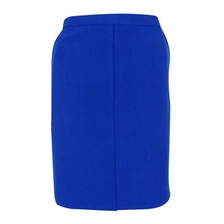 Anne Klein Women's Crepe Pencil Skirt - mariner