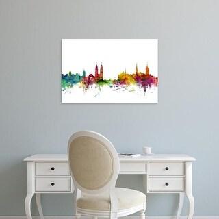 Easy Art Prints Michael Tompsett's 'Zurich Switzerland Skyline' Premium Canvas Art
