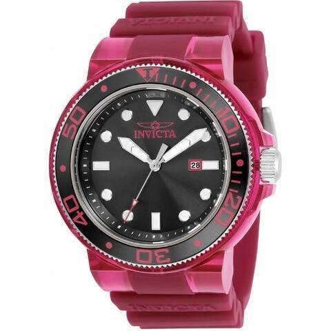 Invicta Men's 32329 'Pro Diver' Burgundy Silicone Watch