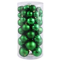 Christmas at Winterland WL-ORNTUBE-80-GR 3-Inch Plastic Shatterproof Green Ball Ornaments (Package of 100) - N/A