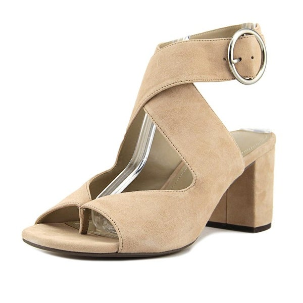 Charles By Charles David Kami Women Open Toe Suede Nude Sandals