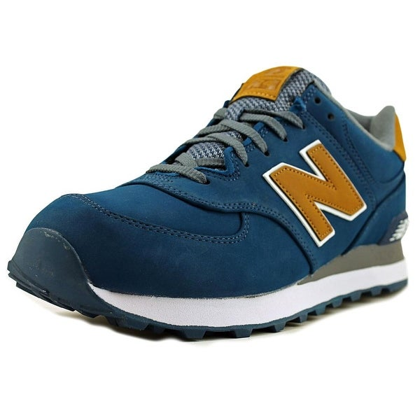 Shop New Balance ML574 Men Round Toe Leather Blue Sneakers - Free ... 4a7d63e497
