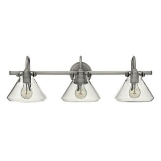 "Hinkley Lighting 50036 3 Light 29.5"" Width Bathroom Vanity Light with Clear Cone Shade from the Congress Collection"