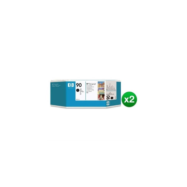 HP 90 400-ml Black DesignJet Ink Cartridge (C5058A) (2-Pack)