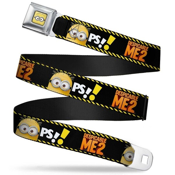 Minion Dave Face Close Up Full Color Despicable Me 2 Minion Hazard Oops! Seatbelt Belt