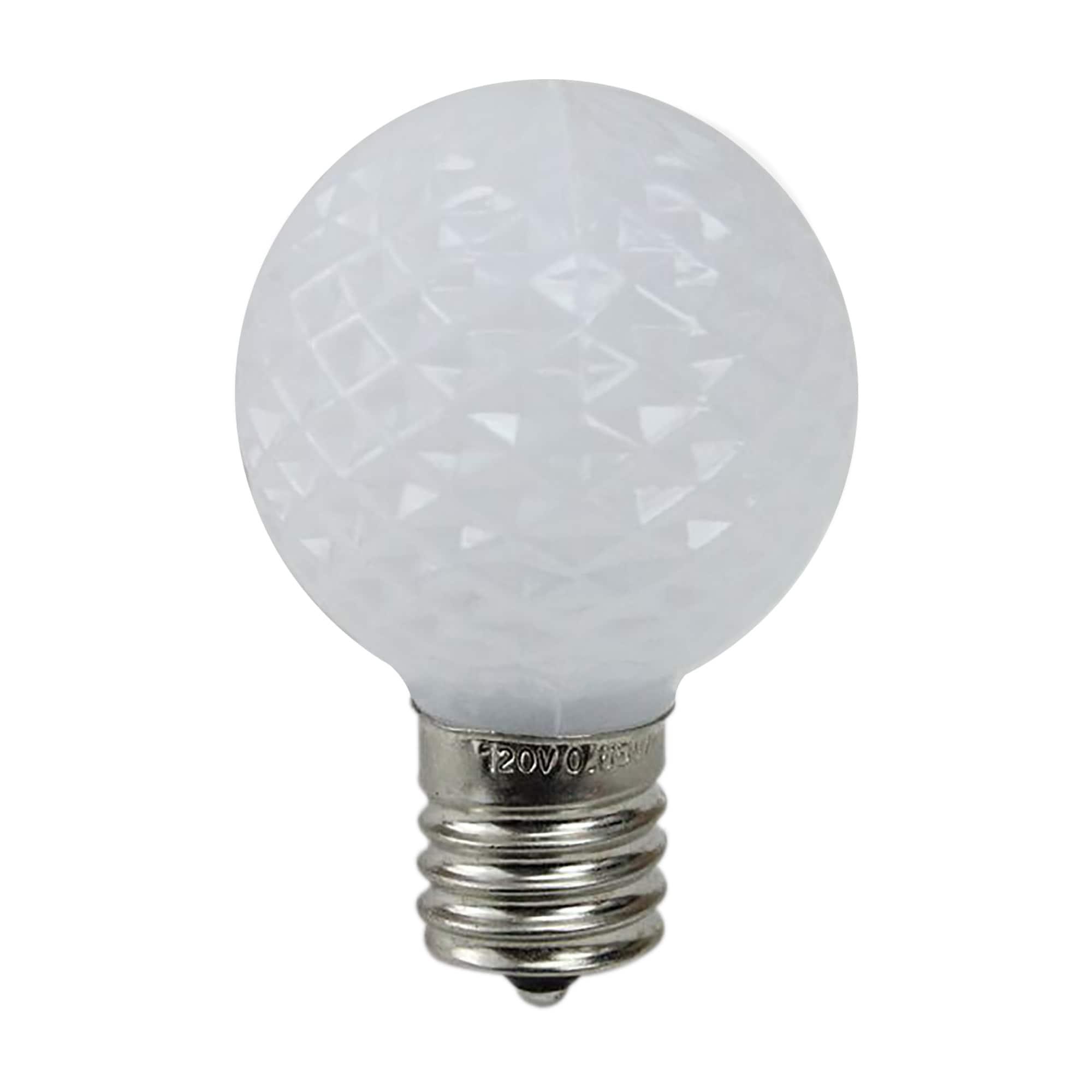 LED Amber color 25 Units X C7 LED Christmas Light Bulb Faceted